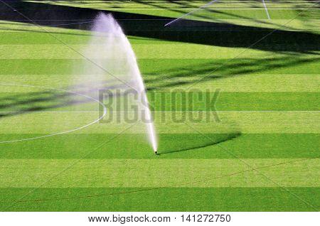 irrigation turf of luigi ferraris Marassi stadium, genoa, italy