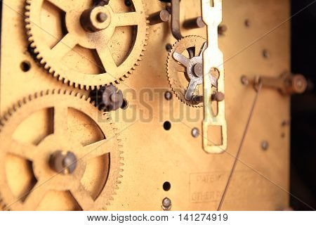 Workings Of An Antique Clock Movement