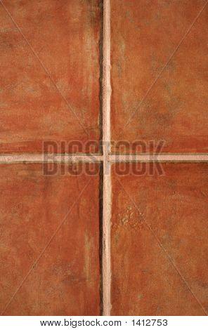 Terracotta Ceramic Tiles Pattern