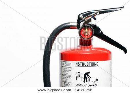 fire extinguisher on white