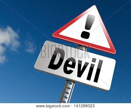 Devil evil satan burn in hell  3D illustration