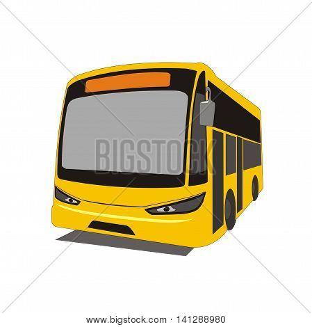 Illustration intercity bus in the state of Selangor Kuala Lumpur, Malaysia, isolated on white background