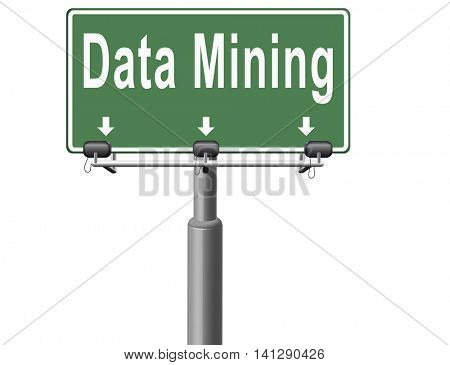 data mining analysis and search big data for specific information and statistics 3D illustration