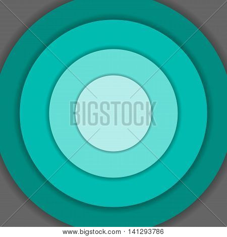 Green circle material design background, stock vector