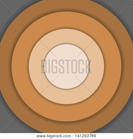 Brown circle material design background, stock vector