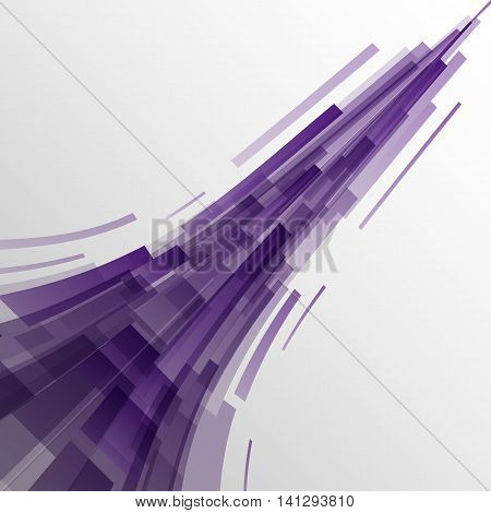 Abstract violet rectangles technology background, stock vector