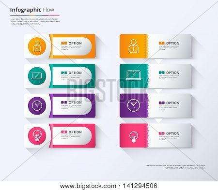 Label Infographic Design, Tag Label Template. Vector Stock.