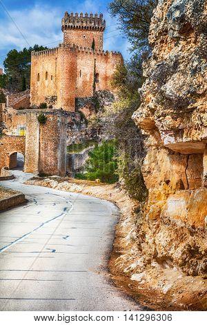 Alarcon castle - medieval castle in Spain, Castile- la mancha