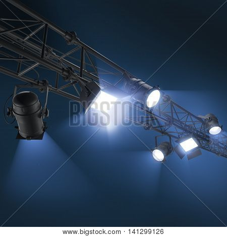 3D Hanging Floodlight Or Soffits