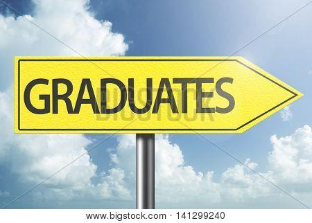 Graduates yellow sign