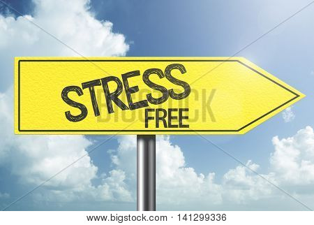 Stress Free yellow sign