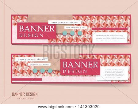 Modern Houndstooth Background Banner