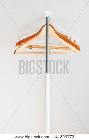Nothing To Wear Empty Wooden Coat Hanger Concept