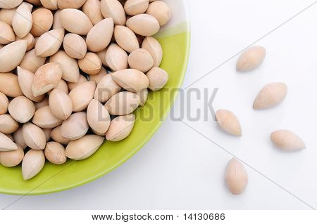 Ginko Seeds In A Green Dish