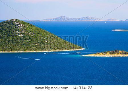Islands of Kornati national park view Dalmatia Croatia
