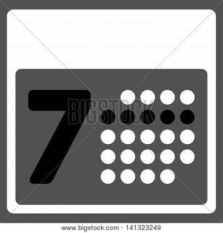 Syllabus Week vector icon. Style is bicolor flat symbol, black and white colors, rounded angles, gray background.