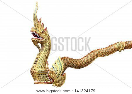 King of Nagas or serpent in thailand temple and stand by at the front of the temple,Temple in Thailand which identity of the country, Gold temple and pagoda in temple and buddhism would like to pray.