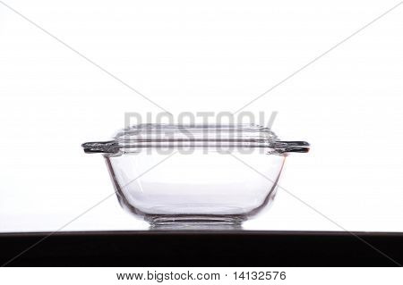 A Glass Bowl In White Background