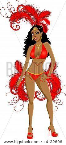 Carnival Red Girl