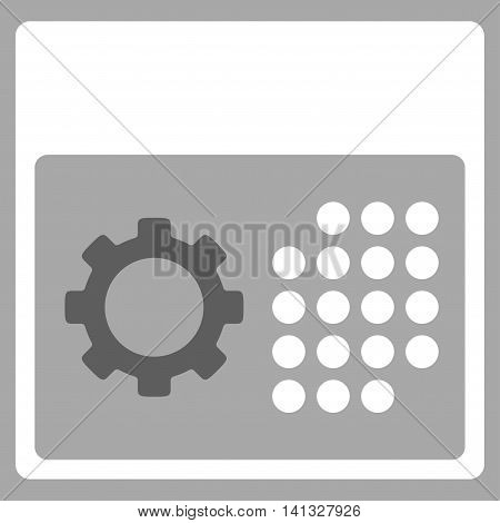 Service Syllabus vector icon. Style is bicolor flat symbol, dark gray and white colors, rounded angles, silver background.