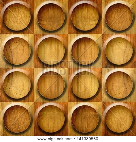 Decorative tiles - seamless background - wood surface