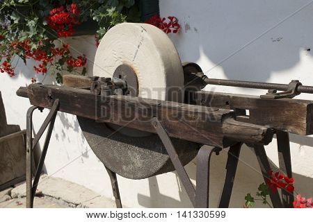 Ancient grinding stone - Traditional agricultural tools