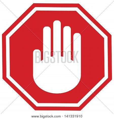 Stop gesture sign Vector Symbol Sign Illustration Simplicity Red