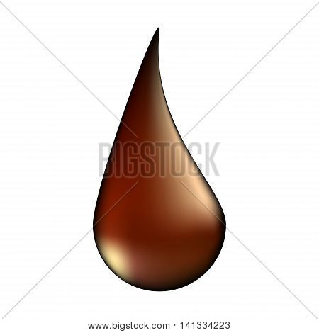 Choco Drop Vector Symbol Icon Design. Illustration Isolated On White Background
