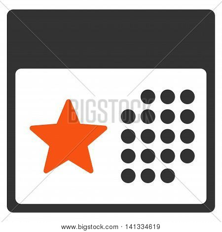 Holiday Syllabus vector icon. Style is bicolor flat symbol, orange and gray colors, rounded angles, white background.