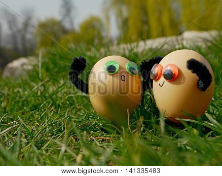 Funny easter eggs - Traditional search for Easter eggs