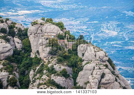 Sant Dimes hermitage in Santa Maria de Montserrat Abbey in Montserrat mountains Spain