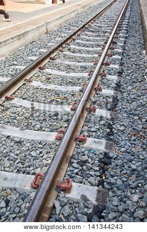 The railway shunt for transport raw material at Thailand