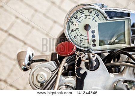 Modern auto speed meter motor cycle . Instrument Panel