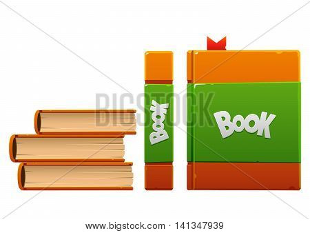 brown with green cartoon book three kinds