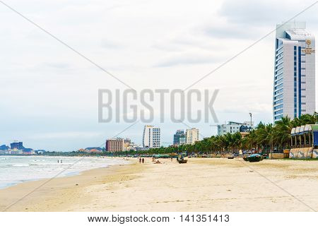 Sea View In The China Beach In Danang In Vietnam