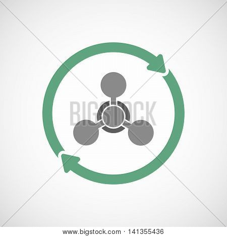 Isolated Reuse Icon With A Chemical Weapon Sign