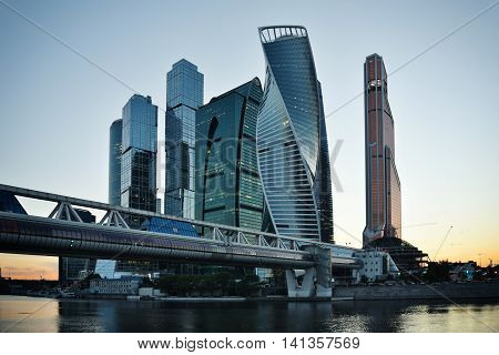 Moscow - August 04, 2016: Skyscrapers Of Moscow City Business Center.