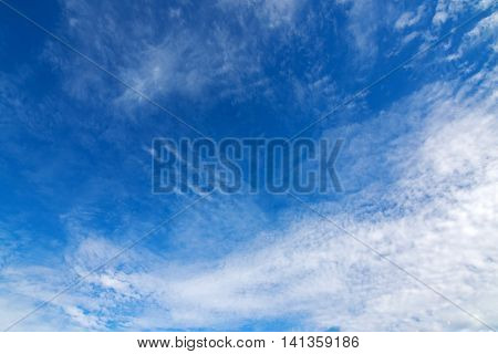 Natural blue sky with Cirrocumulus high level Clouds formation