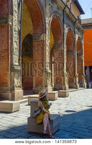 Piazza Di Porta Ravegnana. Bologna. Emilia-romagna. Italy.