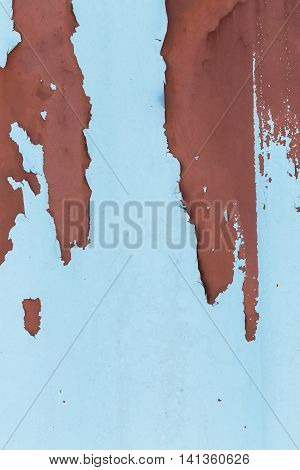 Rusty Wall Peeling Paint Background
