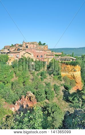 famous Village of Roussillon in Region Provence Alpes Cote d `Azur,South of France