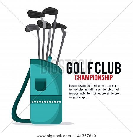 Gold sport concept represented by clubs icon. Colorfull and flat illustration.