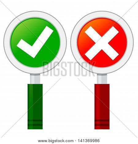 Vector stock go check mark in hand held sign board