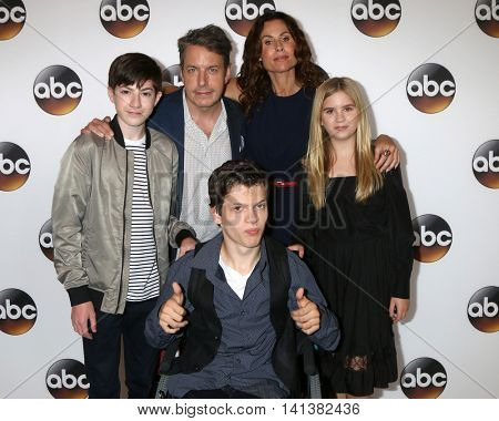 LOS ANGELES - AUG 4:  Mason Cook, John Ross Bowie, Minnie Driver, Kyla Kenedy, Micah Fowler at the ABC TCA Summer 2016 Party at the Beverly Hilton Hotel on August 4, 2016 in Beverly Hills, CA