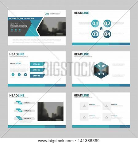 Blue triangle presentation templates Infographic elements template flat design set for annual report brochure flyer leaflet marketing advertising banner template