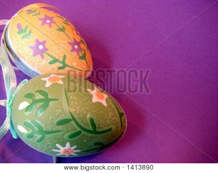 Two Decorative Eggs