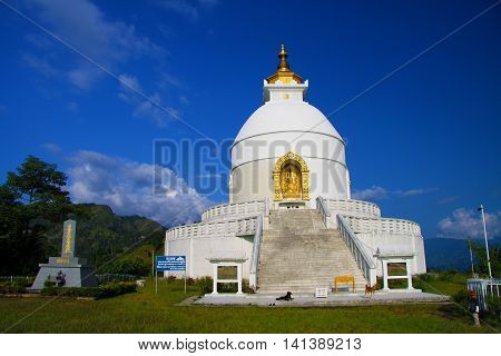 A Peace Pagoda is a Buddhist stupa . They should help to ensure peace in the world .