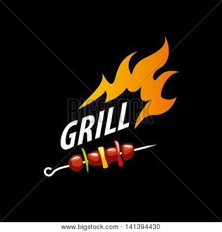 logo design template for a barbecue. Vector illustration