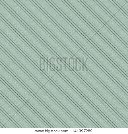 Diagonal lined seamless pattern. Repeating texture with white thin parallel straight lines on green tint background. Vector illustration.