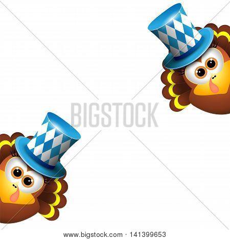 Oktoberfest Card Design Template. Vector illustration. Hollyday background